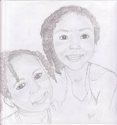 Drawing - Children by Helen Vanterpool