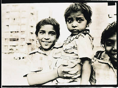 Photograph - Of Hope And Fear, Children In Mexico by Wernher Krutein