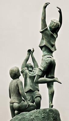 Sculpture - Children Of Hope Close Up by Michael Rutland