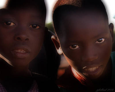 Photograph - Children Of Kenya by Joseph G Holland