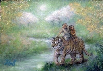 Animals Painting - Children Of The Moonlight by Hiroyuki Suzuki