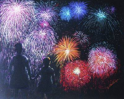 Children On The 4th Of July Art Print by Diane Larcheveque