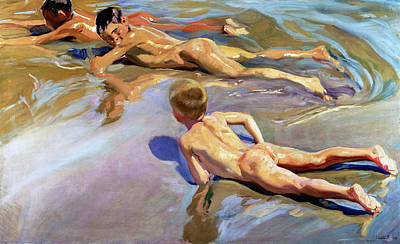 Visual Painting - Children On The Beach by Joaquin Sorolla