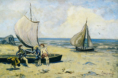 Painting - Children On The Beach by Louis Michel Eilshemius