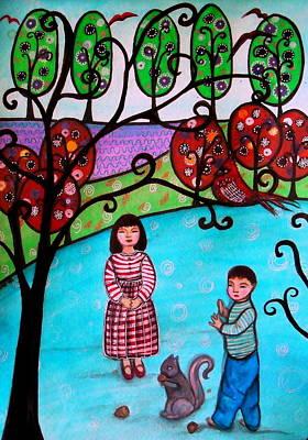 Children Playing Art Print by Pristine Cartera Turkus