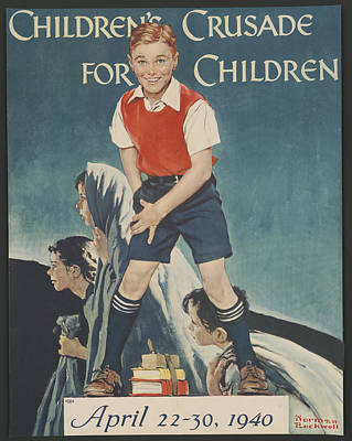 Painting - Children's Crusade For Children by Norman Rockwell