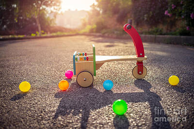Photograph - Child's Bicycle On Playground by Anna Om