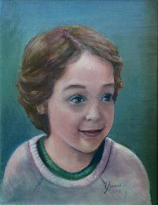 Painting - Child's Portrait by Laila Awad Jamaleldin
