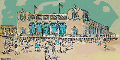 Painting - Child's Restaurant On The Coney Island Boardwalk 1920 by Dwight Goss