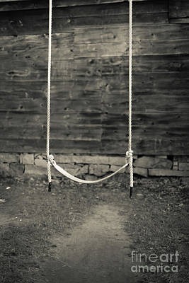 Photograph - Child's Swing On An Old Farm by Edward Fielding