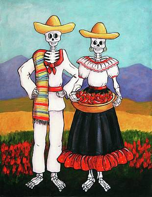 Wall Art - Painting - Chile Farmers by Candy Mayer
