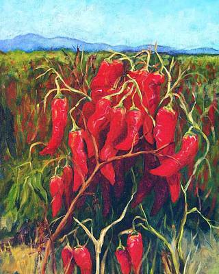 Pepper Painting - Chile Field by Candy Mayer