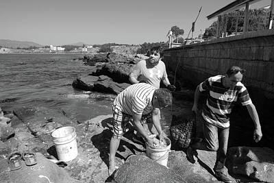 Photograph - Chilean Coastal Fishermen by Aidan Moran