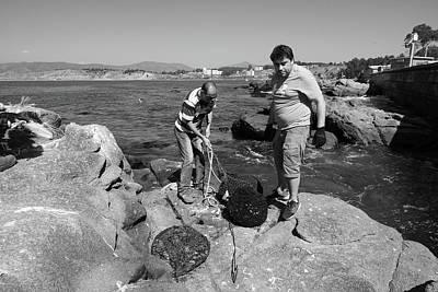 Photograph - Chilean Fishermen by Aidan Moran