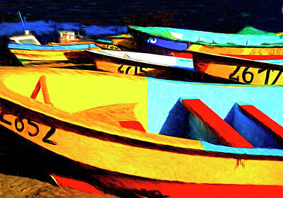 Photograph - Chilean Fishing Boats by Dennis Cox Photo Explorer