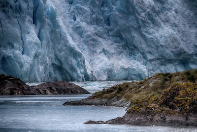 Photograph - Chilean Fjords Glacier by John Haldane