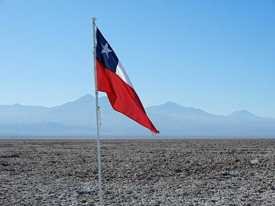 Photograph - Chilean Flag by Cheryl Hoyle