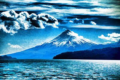 Chilean Volcano Art Print by Dennis Cox