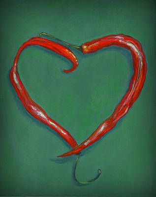 Pepper Painting - Chiles - Sweet Heat by Karyn Robinson