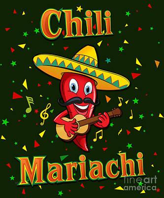 Chili Mariachi Art Print