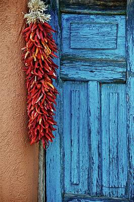 Photograph - Chili Peppers And Door Panel by Flying Z Photography by Zayne Diamond