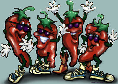 Chili Peppers Gang Art Print