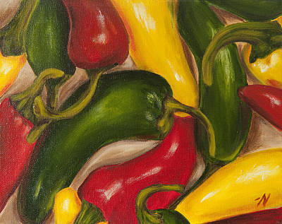 Pepper Painting - Chili Peppers by Nicole Okun