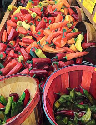 Photograph - Chilis Galore by Miriam Danar