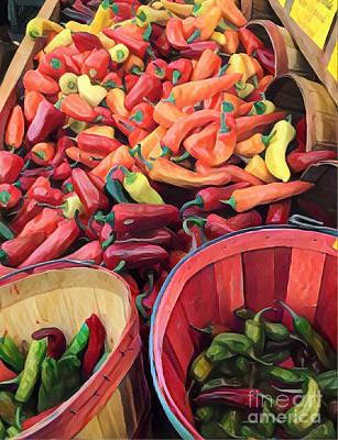 Photograph - Chilis Galore by Miriam Danar