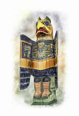 Painting - Chilkat Eagle by David Wagner