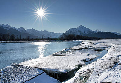 Photograph - Chilkat River With Ice Chunks by Michele Cornelius