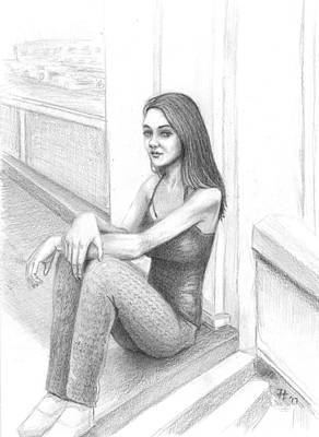 James Parker Drawing - Chill by James Parker