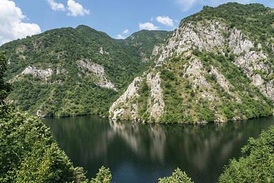 Photograph - Chillax - Peaceful Lake Hugged By Mountains  by Georgia Mizuleva