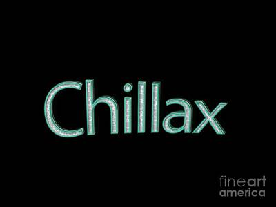 Chillax Tee Art Print by Edward Fielding