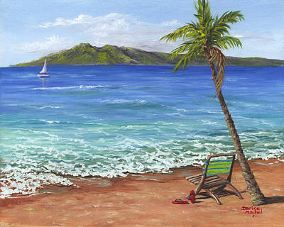 Chillaxing Maui Style Original by Darice Machel McGuire