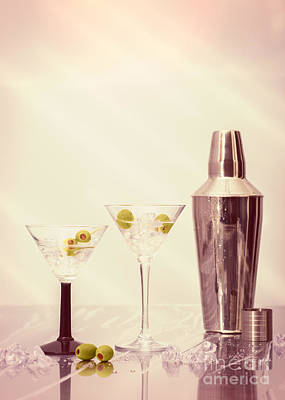 Glass Art Photograph - Chilled Martinis by Amanda Elwell