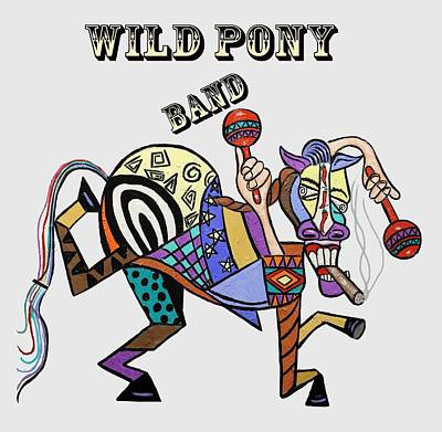Painting - Chilli Peppers Wild Pony by Anthony Falbo
