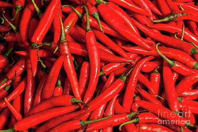 Photograph - Chillies 06  by Rick Piper Photography