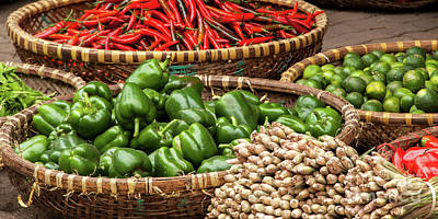 Photograph - Chillies And Capsicums 02  by Rick Piper Photography