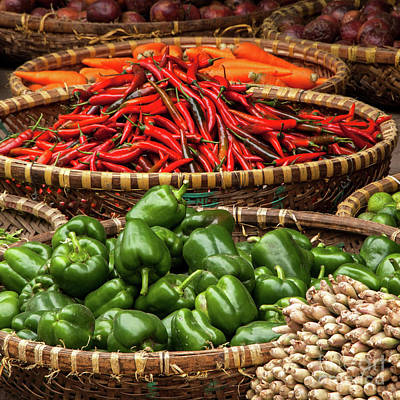 Photograph - Chillies And Capsicums 03  by Rick Piper Photography