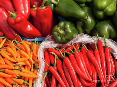 Photograph - Chillies And Capsicums 04  by Rick Piper Photography