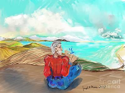 Digital Art - Chillin' Caricature Joe by Joseph Mora