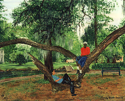 Kimble Painting - Chillin In City Park Nola by Beverly Kimble Davis