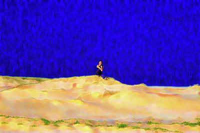 Photograph -  Chilling On Sand Dune by Miroslava Jurcik