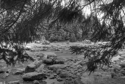 Photograph - Chillkoot River Black And White by Richard J Cassato