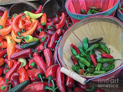 Photograph - Chillin' With The Chilis - At The Farmers Market by Miriam Danar