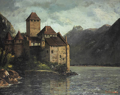Courbet Painting - Chillon Castle by Gustave Courbet