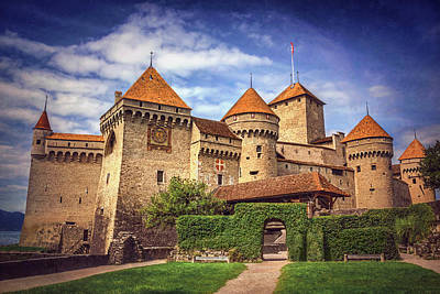 Medieval Entrance Photograph - Chillon Castle Montreux Switzerland  by Carol Japp