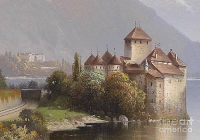 Chillon Painting - Chillon Castle by MotionAge Designs