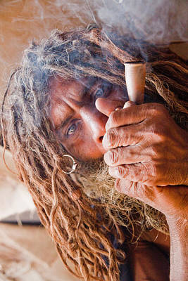 Naga Photograph - Chillum Baba by John Battaglino